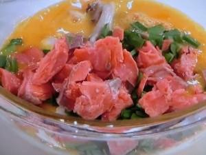 鮭の天津飯