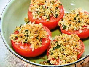 トマトのパン粉焼き
