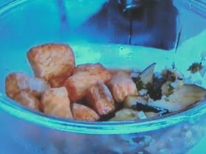 サケとナスの香味ソース