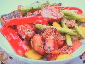もこみち流 厚切りベーコンと彩り野菜の粒マスタードソテー