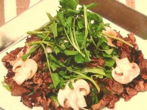 牛肉のつけ焼きサラダ