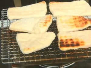 簡単網焼きパン