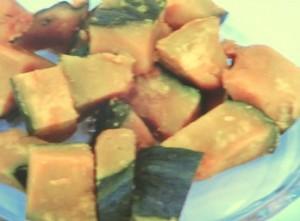 かぼちゃと鶏肉のガーリックソテー