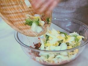 明太子で白菜キムチ
