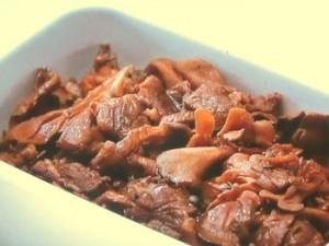 マイタケと牛肉の醤油煮