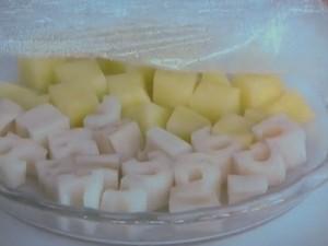 ごろごろ野菜のチーズ和え