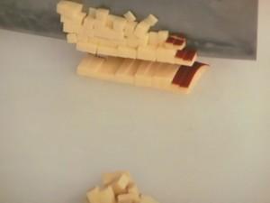 鶏のチーズ炒め