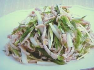 白菜と豚肉の炒めもの