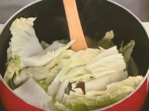 白菜と豚肉の煮込み