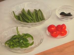 ホタテと野菜のソテー