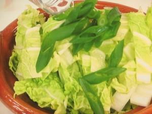 白菜の鍋蒸し