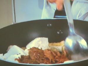 豆腐となめ茸の卵とじ丼