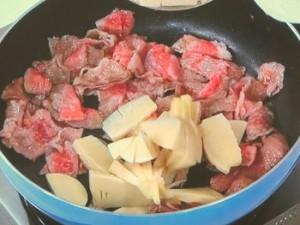 牛肉と筍のちょっと洋風な味噌バタ煮。