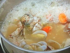 魚介とソラマメのスープうどん