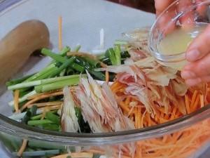 塩鶏の香味サラダ