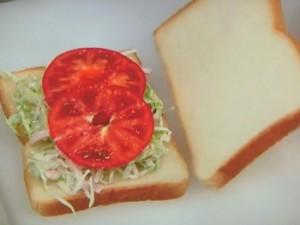 HLT(ハムレタストマト)サンド