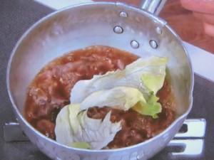 レタスと牛肉の煮込み