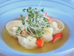 豆腐のラヴィオリ
