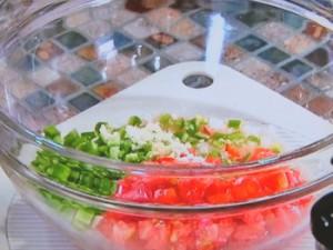 夏野菜タコス