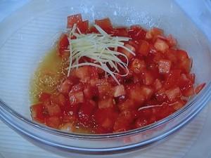 ゆで豚のシンプルトマトソース