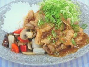しょうが焼きと野菜炒めのプレート