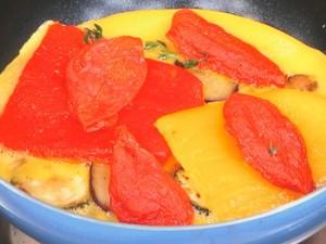 夏野菜のスパニッシュオムレツ