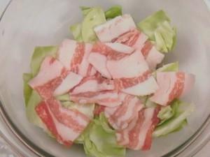 豚バラとキャベツの重ね蒸し煮