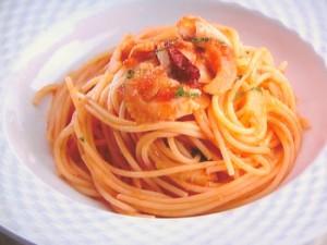 白身魚のスパゲッティ