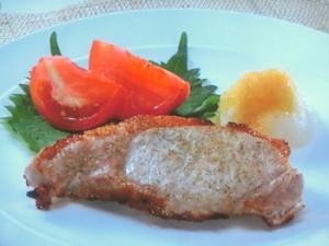 豚肉のグリル焼き おろしソース