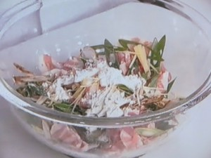 豚肉とごぼうのかき揚げ