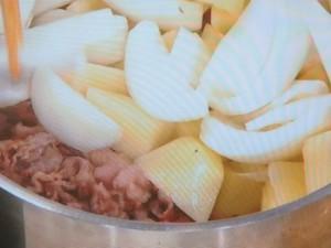 夏の肉じゃが カレー風味