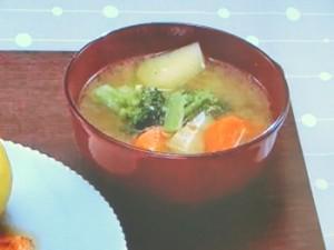 三種の野菜の味噌汁