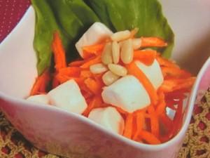 にんじんとマシュマロのサラダ