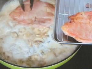 豚肉のマッシュルームソース