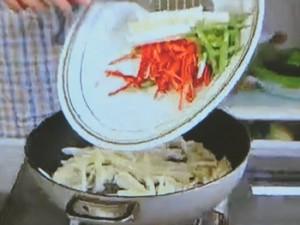 もこみち流 アワビと細切り野菜の中華炒め