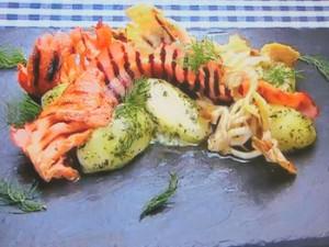 ベーコンときのこ焼きのポテトサラダ ~グリーンマヨ和え~