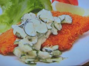 長芋サラダ乳酸菌たっぷりソース