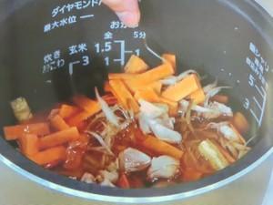 鶏とごぼうの炊き込みごはん