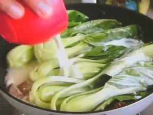 もこみち流 チンゲンサイときのこと鶏ささみのクリーム煮