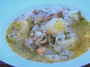 もこみち流 リーキとオニオンとチキンのスープ