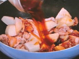 さといもと豚肉の照り焼き