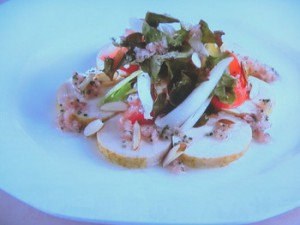 カレー風味の鶏ハムサラダ