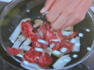 エリンギと牛肉の炒めもの