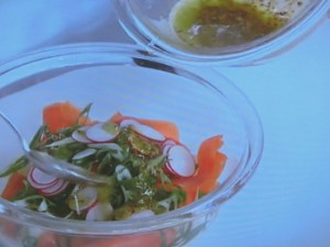 サーモンとポテトのサラダ