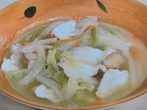 柔らか塩鶏のスープ煮