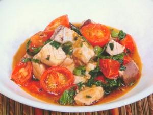 白身魚とミニトマトのさっと煮