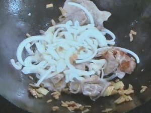 豚肉とメンマの炒めもの