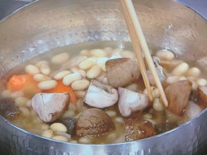 大豆と根菜のうま煮