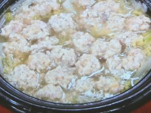 肉だんごと白菜のやわらか煮込み