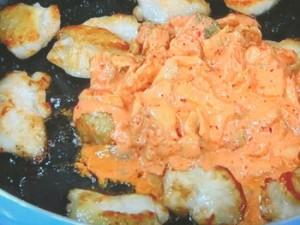 鶏マヨキムチ炒め